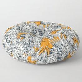fish mirage turmeric Floor Pillow