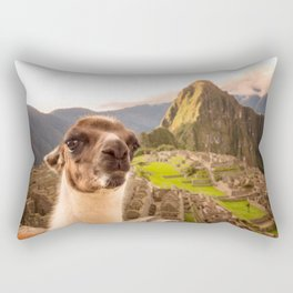 Llama #selfie Rectangular Pillow