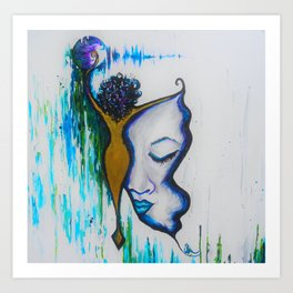 Morphed in Tranquility Art Print