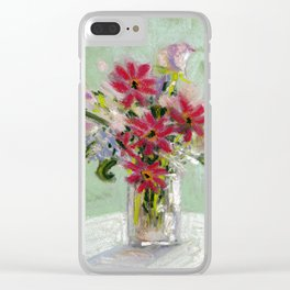 Flowers No.3 Clear iPhone Case