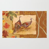 turkey Area & Throw Rugs featuring Wild Turkey by Edith Jackson-Designs