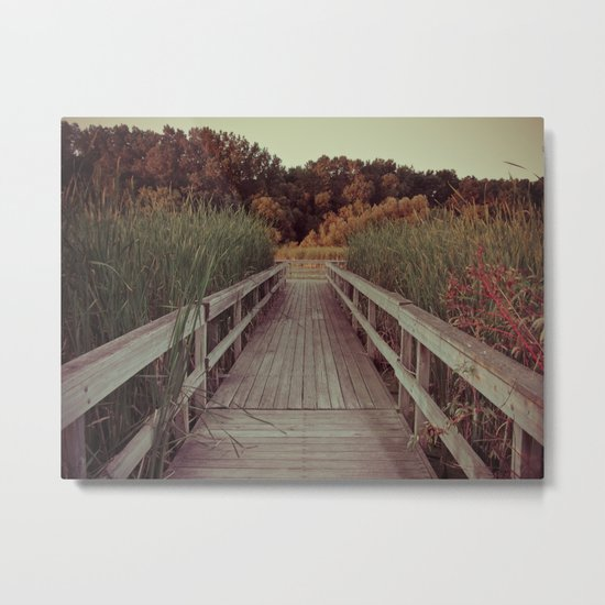 Our Youth is Fleeting, Old Age is Just Around the Bend. Metal Print