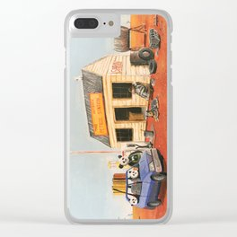 The Outback Petrol Station Clear iPhone Case