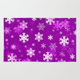 Light Lilac Snowflakes Rug