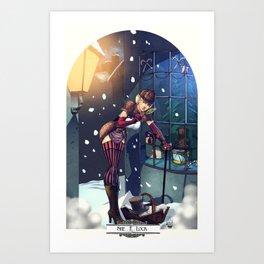 Sexy Female Sherlock Steampunk Christmas Illustration - She. R. Lock  Art Print