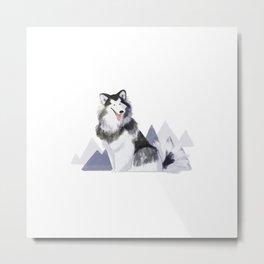 doggust: alaskan malamute Metal Print