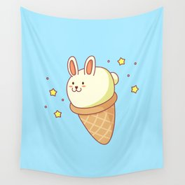 Bunny-lla Ice Cream Wall Tapestry