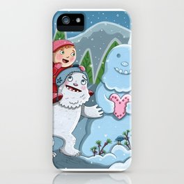 Valentine Yeti iPhone Case