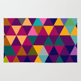 Multicolor triangle shapes pattern Rug
