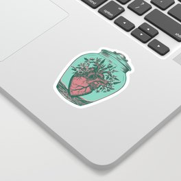 Anahata: Blooming Heart  Sticker