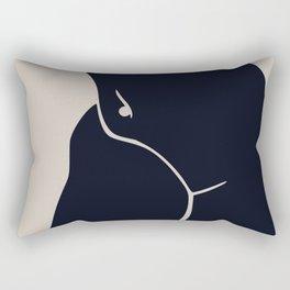 Nude belly button Rectangular Pillow
