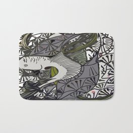 Shallow River Young Leaves Bath Mat