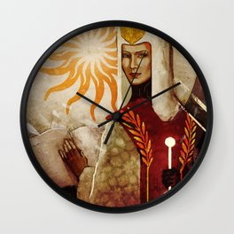 Leliana Divine Victoria tarot aesthetics card Wall Clock