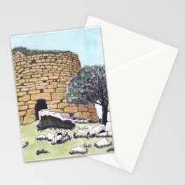 Nuraghe Tower in Sardinia Stationery Cards