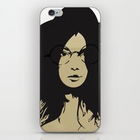 bookworm iPhone & iPod Skins featuring The bookworm by redstringstudios