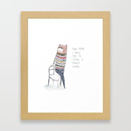 This Year I Will Try To Steal A Fancy Chair Framed Art Print