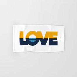 LOVE - People's Flag of Milwaukee Hand & Bath Towel