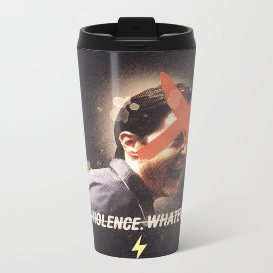 Black Mirror | Dale Cooper Collage Metal Travel Mug