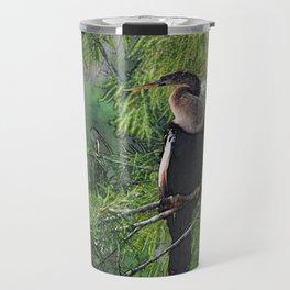 Roosting Anhinga Stylized Travel Mug