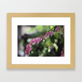 Pink Hearts Framed Art Print