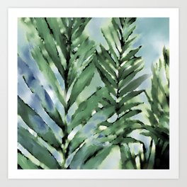 Bamboo Greens Art Print