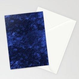 Royal blue navy velvet Stationery Cards