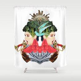 Blue Bird by Lenka Laskoradova Shower Curtain