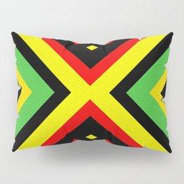Jah Sun Always Rise Irie Reggae Mandala Pillow Sham