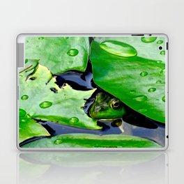 Peek  A Boo frog Laptop & iPad Skin