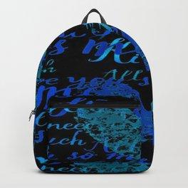 Kiss Me, Miss me Blue Backpack