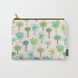 Watercolor Palm Trees Carry-All Pouch