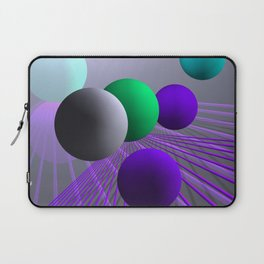 converging lines and balls -3- Laptop Sleeve