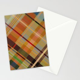 Colorful Plaid #2 Stationery Cards