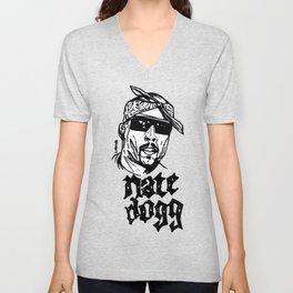 Nate Dogg Art Freehand/Graffiti  Unisex V-Neck