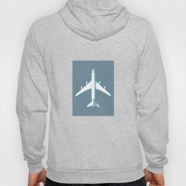 747-400 Jumbo Jet Airliner Aircraft - Slate Hoody