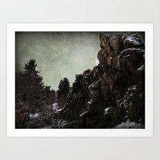 Felsen Art Print