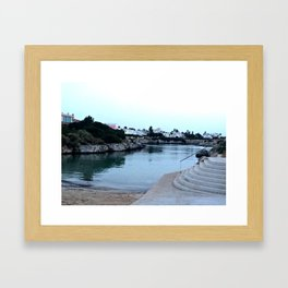 Hidden Beach in Ciutadella Framed Art Print
