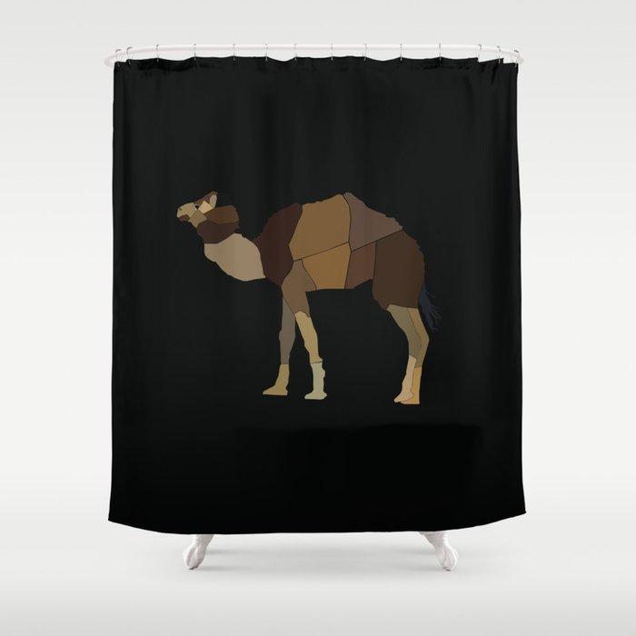 Camel Shower Curtain By Srhsbn