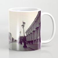 madrid Mugs featuring Madrid by Miko Jester