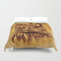 mad max Duvet Covers featuring Homage to Mad Max by Giorgio Finamore