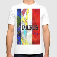 Paris MEDIUM White Mens Fitted Tee