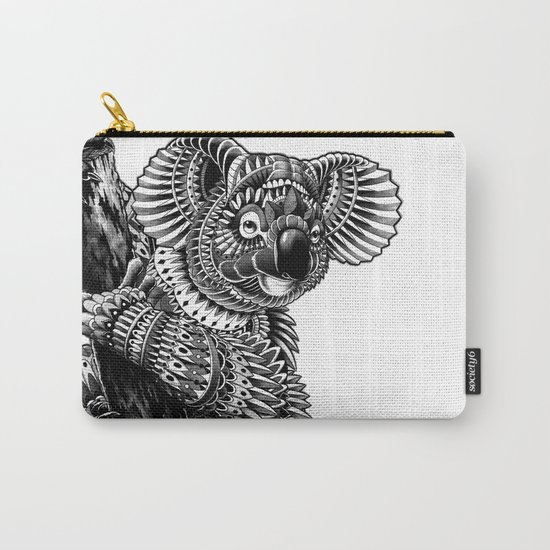 Ornate Koala Carry-All Pouch