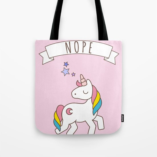 Nope Unicorn Tote Bag