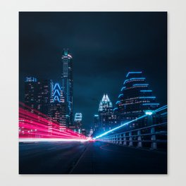Congress Avenue Bridge Canvas Print