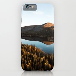 Lapland, Finland. Land of fells, forests and lakes. iPhone Case