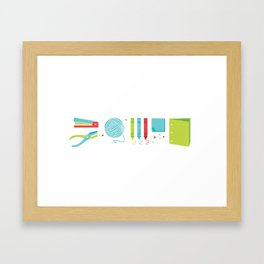 Crafty Framed Art Print