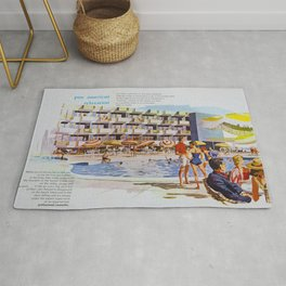 1950's Retro Hotel Wildwood Rendering,  Wildwood, New Jersey Rug
