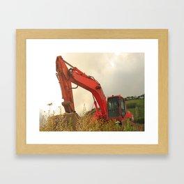 Construction machinery Framed Art Print