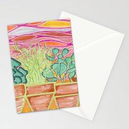 Cacti Sunset Stationery Cards