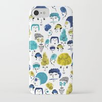 faces iPhone & iPod Cases featuring Faces by Sahily Tallet Yip